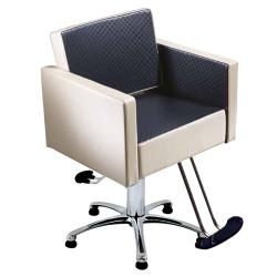 Salon Ambience SH/890 Square Styling Chair w/ Hydraulic Base Options
