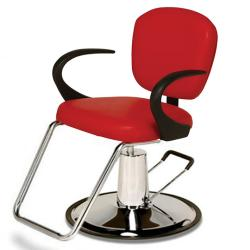 Veeco ST-9701-B Stiletto Styling Chair on Round Base