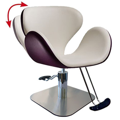 Salon Ambience SH/301-4/S Tulip All Purpose Chair - Square Base