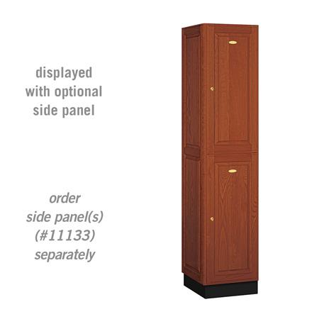 "AB Atmosphere 12168 Double Tier Solid Oak Executive Locker - 16"" W x 76"" H x 18"" D"