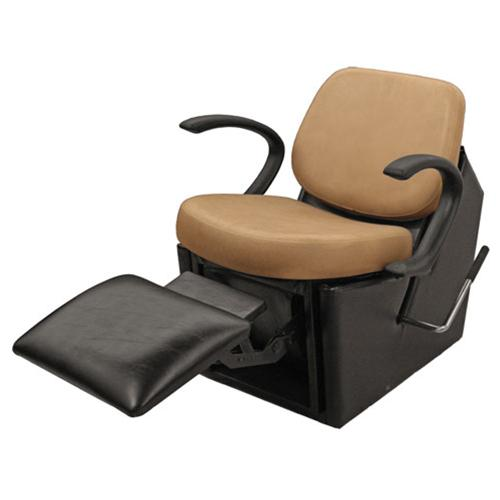 Collins QSE 14ES Massey 59 Electric Shampoo Chair w/ Kick-Out Legrest, Chassis in Black