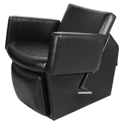 Collins QSE 69ES Cigno 59 Electric Shampoo Chair w/ Kick-Out Legrest, Chassis in Black