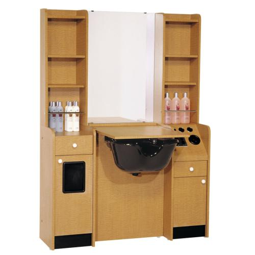 "Belvedere Customline 25"" Wet Booth Styling Station w/ 2  Side Storage"