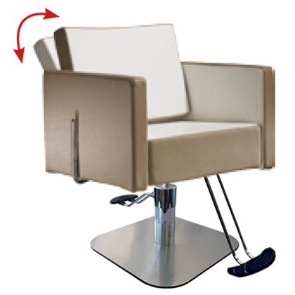 Salon Ambience SH/893-4/S Square All Purpose Chair - Square Base