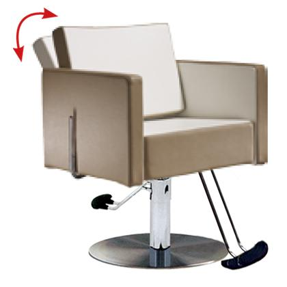 Salon Ambience SH/893-4/R Square All Purpose Chair - Round Base