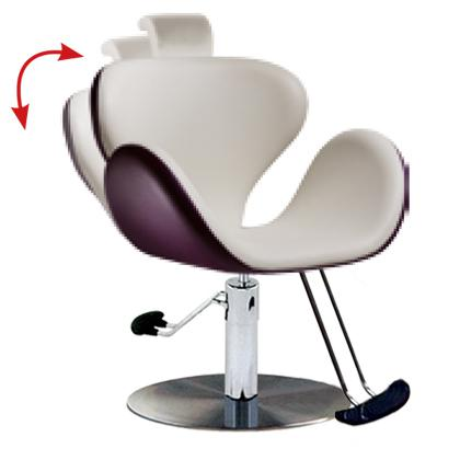 Salon Ambience SH/302-4/R Tulip All Purpose Chair w/ Headrest - Round