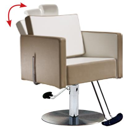 Salon Ambience SH/894-4/R Square All Purpose Chair - Round Base