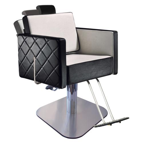 Salon Ambience CH/102-4/S Square All Purpose Chair w/ Headrest & 1683 Base