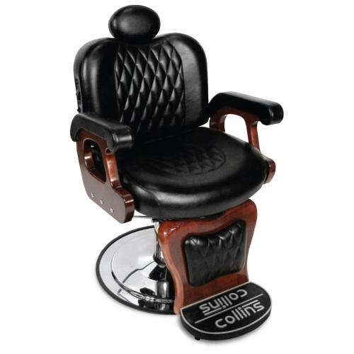 Collins QSE 9050 Commander I Barber Chair w/ Stationary Footrest