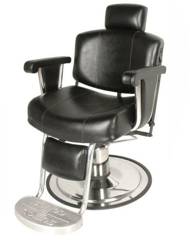 Collins QSE 9010 Continental Barber Chair w/ Upholstered Arm Treatment