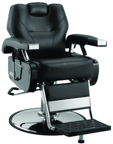 Jeffco 109EX Classic Extra Wide Barber Chair w/ Oversized Chrome Base