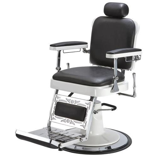 Pibbs 663 Master Barber Chair w/ White Hydraulic Base