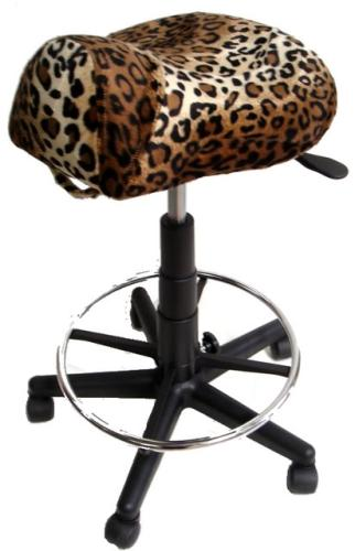 King Seat S115 Saddle Cutting Stool - Animal Print