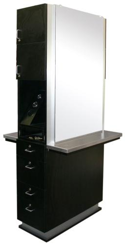 AB Salon Equipment 83897 AB Back to Back Double Shift Station