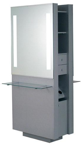 Belvedere OP292-HPL Opal Double Vanity w/ Glass Shelf