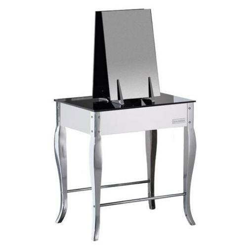 Salon Ambience MI/342-N Secret Double Styling Station - Black Glass Top
