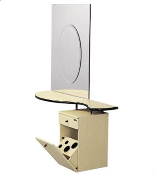 AB Salon Equipment FT130S Float Vanity Styling Station