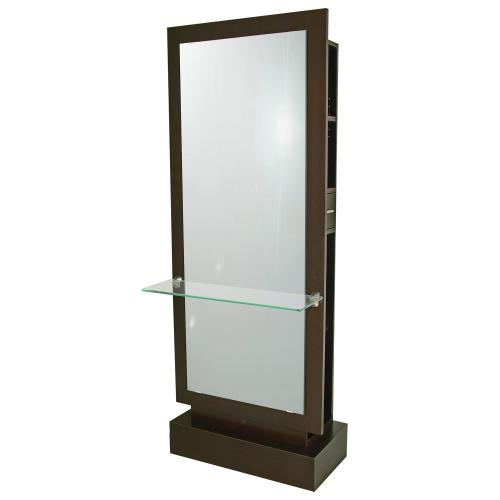Collins 608-30 Rio Artisty Styling Station w/ Mirror and Tempered Glass Ledge