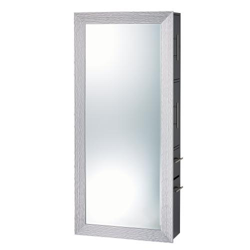 Pibbs Wave Salon Mirror w/ Storage Server