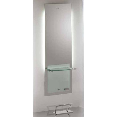 Salon Ambience MI/020 Lisboa Backlit Mirror Styling Station w/ Glass Panel