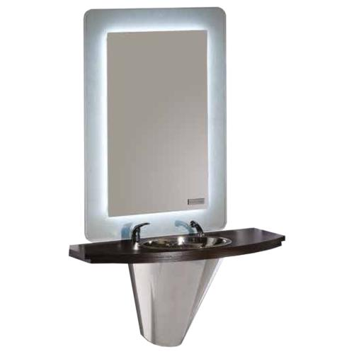 Salon Ambience MM/041 Cliff Barber Mirror Station w/ Basin