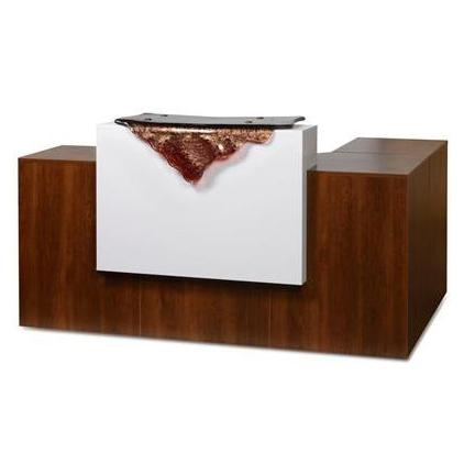 "Gulfstream "" L "" Shape Reception Desk (1 Glass Section)"
