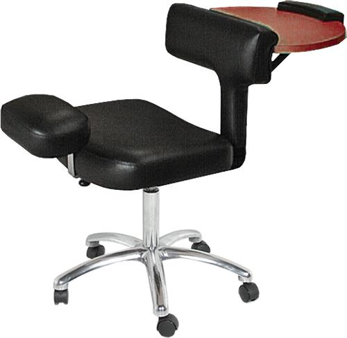 Collins QSE 2505 Pedi-CHABLE Task Chair, Nail Table, Pedi Stool