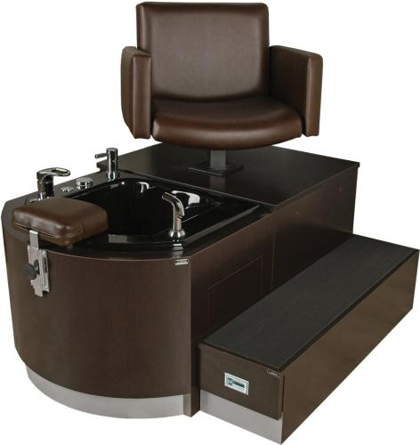 Collins QSE 4436W Cigno Pedicure Unit w/ Acrylic Whirlpool Tub & 10824 Three Zone Massage & Lumbar Heat