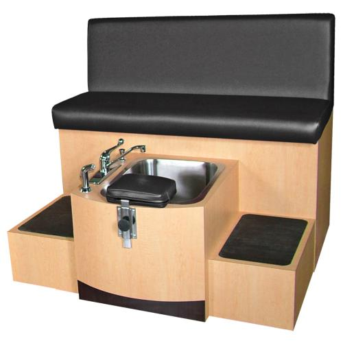 Collins QSE 4486S Cameo Pedicure Spa w/ Stainless Steel Soaking Basin, 10824 Three Zone Massage & Lumbar Heat