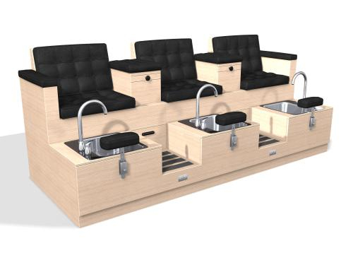 Design X 4100-T Monticelle Sofa Pedicure Spa