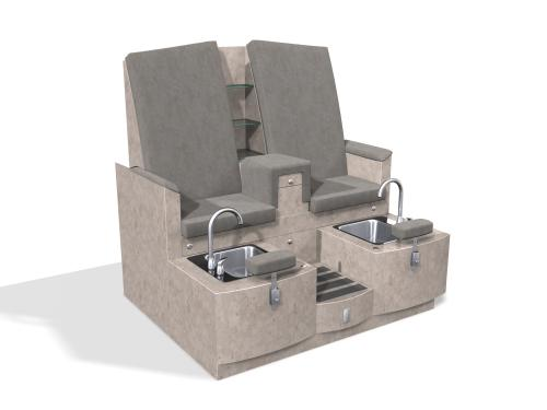 Design X 4475-D Claremont Loveseat Pedicure Spa