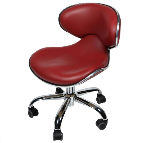 "J & A Euro Pedicure Stool 13"" to 16"" - Terra Red"