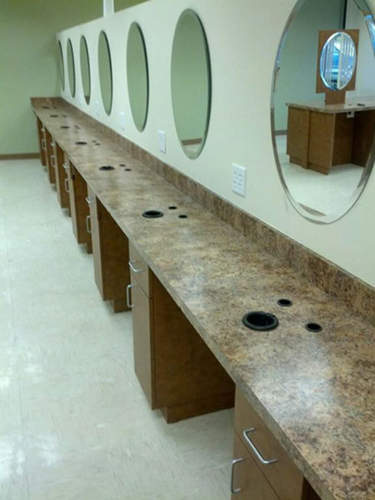 AB Salon Equipment Custom Salon and Barber Stations