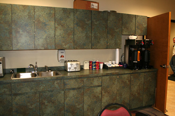AB Salon Equipment Custom Built Lunch Break Room