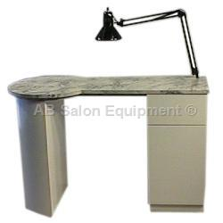 Stationary manicure nail tables for Ab salon equipment