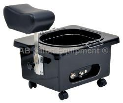 Pibbs DG105B Pedi-N-Go Portable Pedicure Spa w/ FM3848 Tub - Black