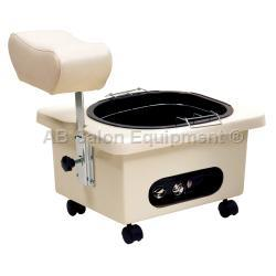 Pibbs DG105I Pedi-N-Go Portable Pedicure Spa w/ FM3848 Tub - Ivory