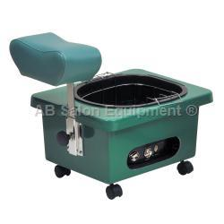 Pibbs DG105E Pedi-N-Go Portable Pedicure Spa w/ FM3848 Tub - Emerald