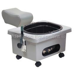 Pibbs DG105G Pedi-N-Go Portable Pedicure Spa w/ FM3848 Tub - Grey