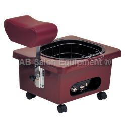 Pibbs DG105R Pedi-N-Go Portable Pedicure Spa w/ FM3848 Tub - Rusty Brown