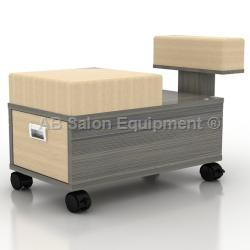 AB Atmosphere VN LS241 Alera Pedicure Stool & Cart w/ Footrest