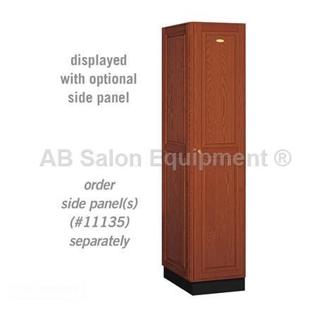 "AB Atmosphere 11161 Single Tier Solid Oak Executive Locker - 16"" W x 76"" H x 21"" D"