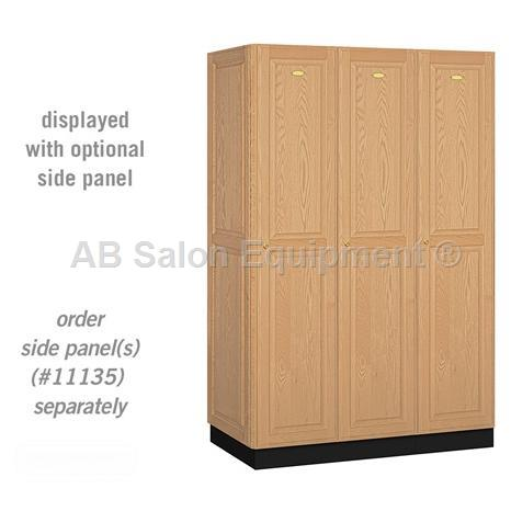 "AB Atmosphere 11361 Single Tier Solid Oak Executive Locker - 3 Lockers Wide - 48"" W x 76"" H x 21"" D"