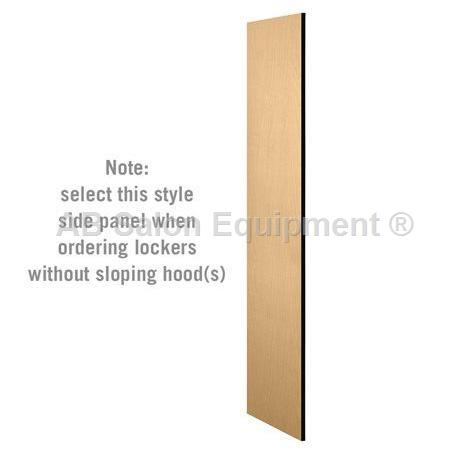 "AB Atmosphere 33335 Side Panel - 6'H x 21""D Designer Wood Locker - No Sloping Hood"