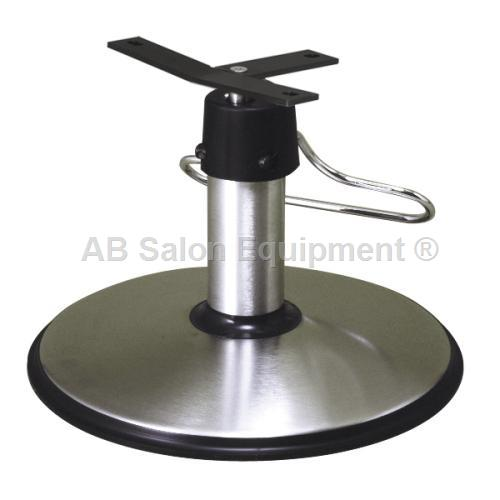 Belvedere cb12fc round hydraulic base brushed chrome for Ab salon equipment