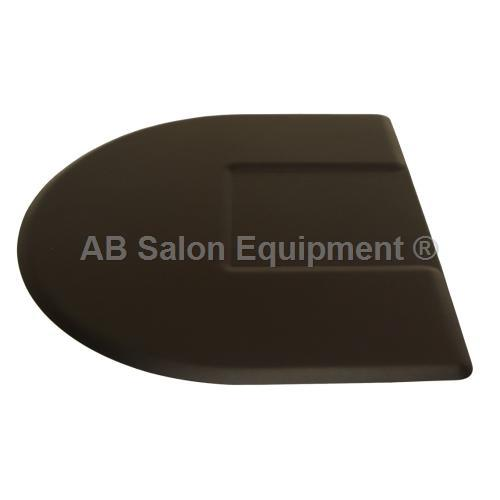 IC Urethane 4045CS Half Circle Salon Chair Floor Mat - 4' x 4.5' x 3/4""