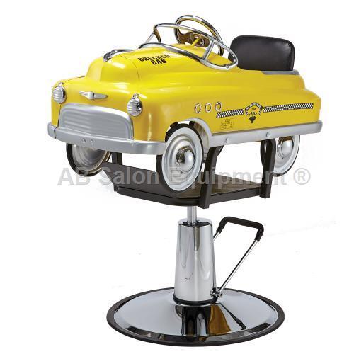 Pibbs 1806 kid 39 s salon styling chair taxi cab car for Ab salon equipment