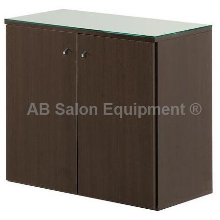 Salon Ambience WO/100 Service Cabinet 80 w/ Glass Top - Wenge