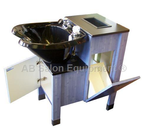 Ab salon equipment 82269 van allen shampoo cabinet for Ab salon equipment