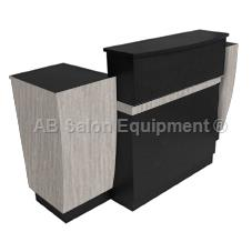 Ab salon equipment 00065 katrina reception desk for Ab salon equipment